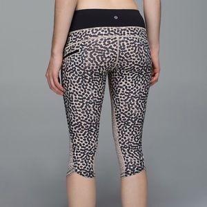 Lululemon Cheetah Print Top Speed Crop size 4
